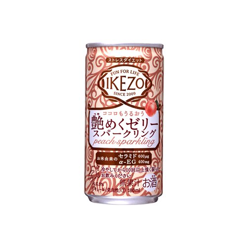 IKEZO 艶めくゼリースパークリング ピーチ 180mlアルミ缶詰×30本