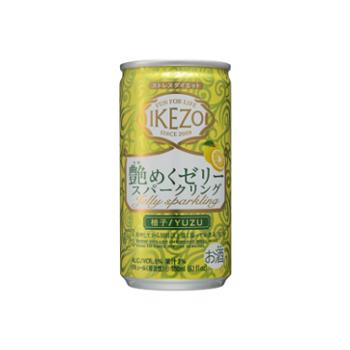 IKEZO 艶めくゼリースパークリング 柚子180ml アルミ缶詰×30本