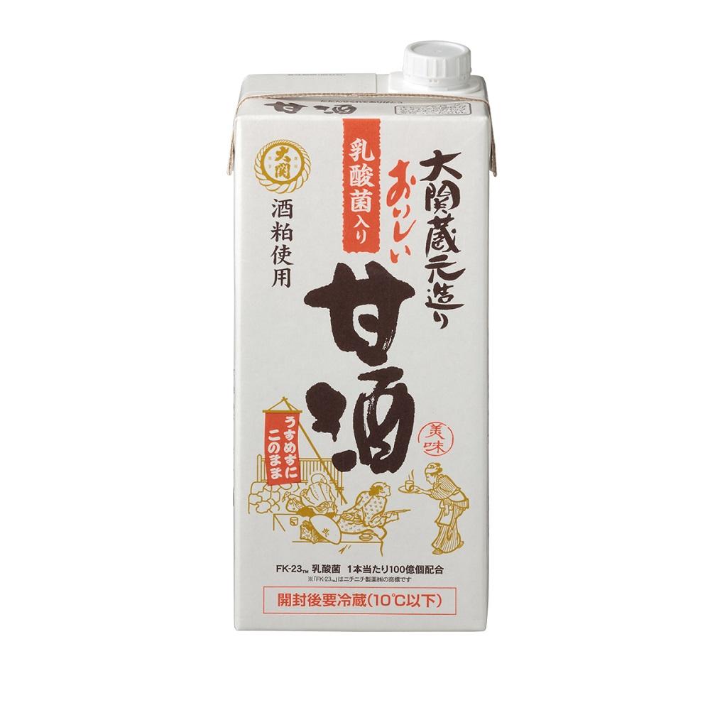 大関 おいしい甘酒 乳酸菌入り 1L×6本